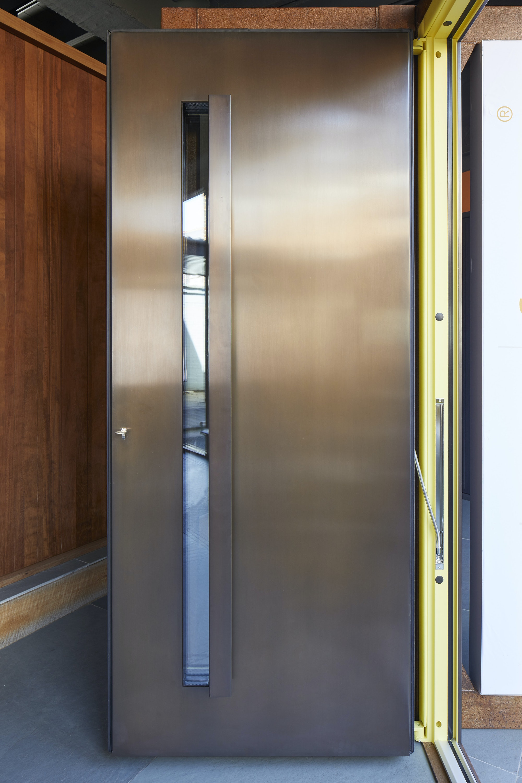 copper steel door