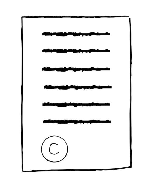 copyright info icon portrait