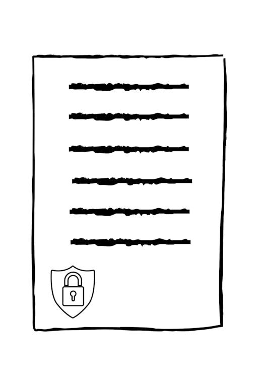 privacy policy icon portrait